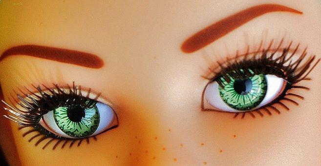 Eyes, Close, Beautiful, Pupils, Eyelashes, Doll, Toys
