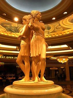Caesars Palace, Las Vegas, Females, Statue, Greek Style
