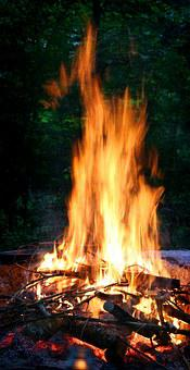 Fire, Grill Fire, Flame, Burning Wood, Burn, Wood, Hot
