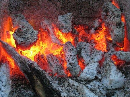 Embers, Fire, Firebrand, Campfire, Grill, Flame, Summer