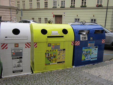 Trash, Can, Sorting, Garbage, Street, Container