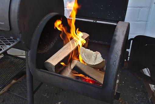 Grill, Firewood, Fire, Flame, Wood, Beer Garden, Garden