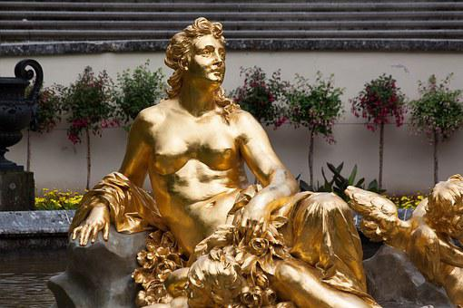 Sculpture, Gold, Gilded, Woman, Angel, Golden, Fig