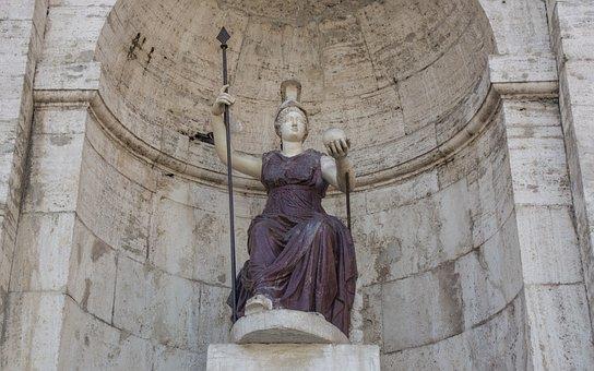 Rome, Statue, Capitol Square, Goddess Roma