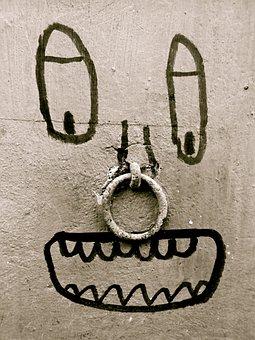 Fun, Art, Graffiti, Wall, Face, Ring, Graphic, Edding