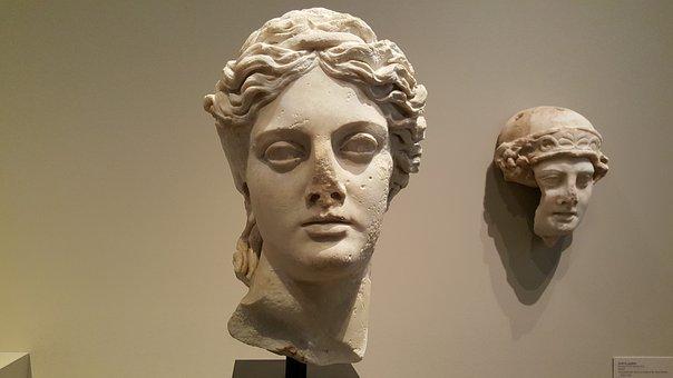 Art, Greek Art, Goddess, Head, Antique