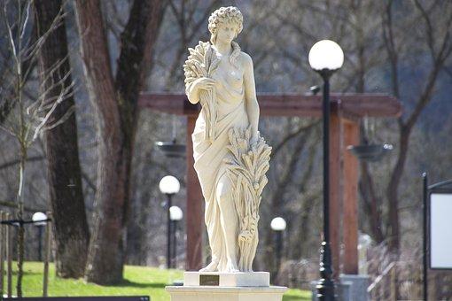 Greek Statue, Ancient Style, Park, Magic, Muszyna