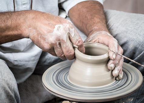 Pottery, Handmade, Cup, Vase, Hands, Clay, Potter