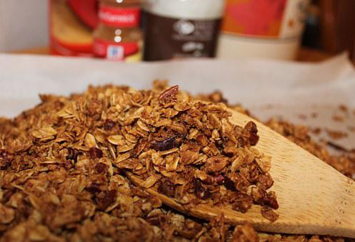 Granola, Oats, Cinnamon, Brown Sugar, Healthy, Food