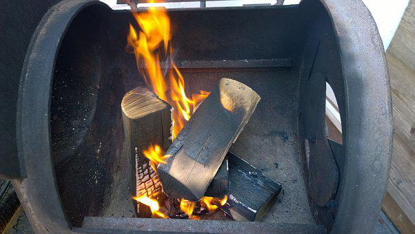 Grill, Fire, Wood, Flame, Brand, Heat, Warm, Hot