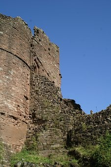 Goodrich Castle, England, Herefordshire, Castle, Norman