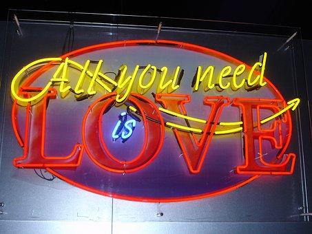 Neon, Love, Logo, Neon Letters, In Love