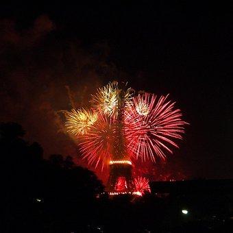 Fireworks, Eiffel Tower, Paris, July 14