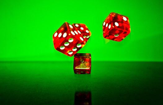 Cube, Red, Fall, Random, Lucky Number, Play, Lucky Dice