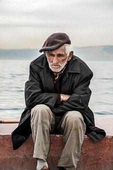 Old, Man, Old Man, Loneliness, Think, Thinking