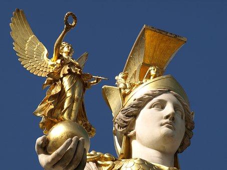 Vienna, Pallas-athene Fountain, Parliament