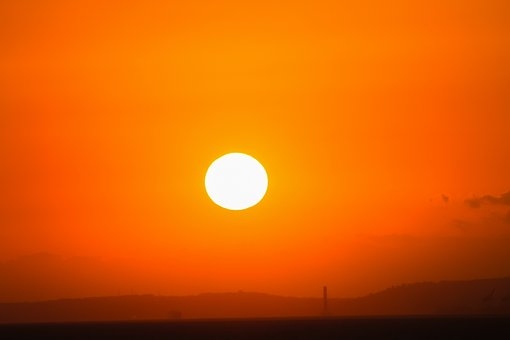 Solar, Round, Circle, Landscape, Marine, Beach, Peace