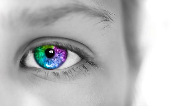Eye, Colorful, Girl, Photoshop, Lightroom, Make-up