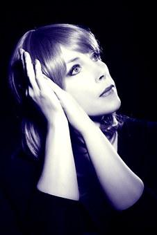 Black And White Portrait, Hands, Portrait, Face, Close