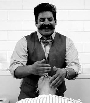 Barber, Salon, Retro, Grooming, Man, Mustache