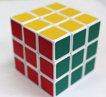 Rubik's Cube, Rubik, Cube, Puzzle, Game, Square