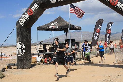 Spartan, Starting Line, Race, Racing, Start, Run