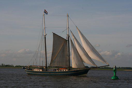 Historically, Seafaring, Sailor, Sailing Vessel, Cutter