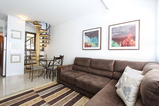 Luggage, Sofa Home, Apartment, Frames, Ladder, Room