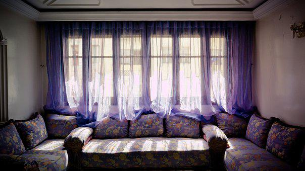 Salon, Moroccan, Living Room, Window, Sofa, Divan