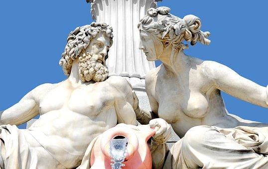 Sculpture, Greek, Statue, Figure, Art, Pillar, Sky, God