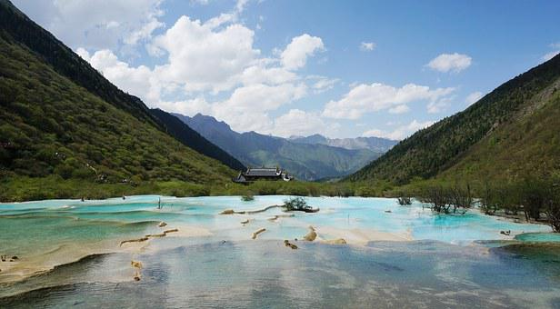 China, Sichuan, Jiuzhaigou, Summer, Goddess Lake