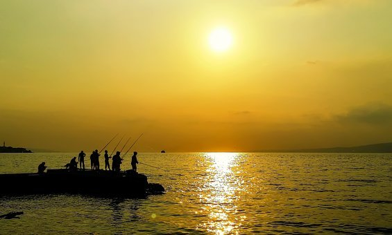 Landscape, Marine, Beach, Peace, Nature, Boat, Sunset
