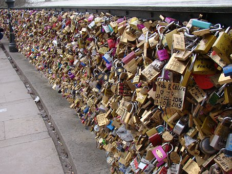 Bridge, Padlocks, Sweethearts, Bridge Lovers, Love