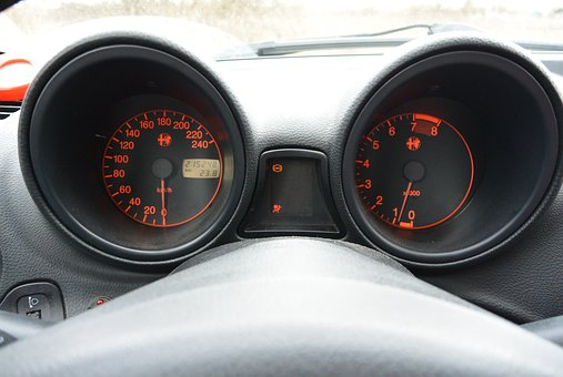 Speedometer, Tachometer, Dashboard, Speed, Car