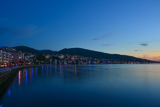 Landscape, Night, Detail, Turkey, Light, Marine