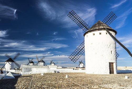 Mill, Wind, Grind, Tourist, Tourism, Windmill