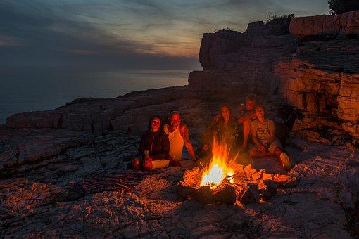 Campfire, Fire, Burn, Adventure, Wood, Flame, Heat