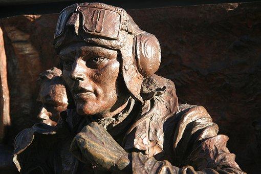 London, Monument, Brass, Pilot, 2nd World War