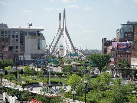 Boston, Landscape, Architecture, Usa, City, America