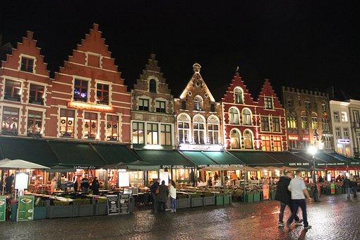 Belgium, Brussels, Pubs, Bars, Street, People