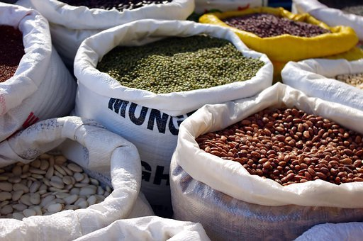 Dry, Goods, Market, Bags, Food, Seed, Cook, Travel