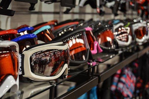 Goggles, Winter, Skiing, Exhibition, Shop, Shopping