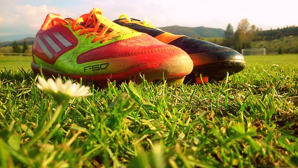 Football, Soccer Shoes, Course, F50, Grass