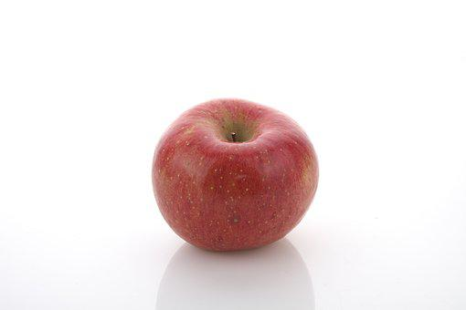 Apple, Fruit, Red, One, White Background