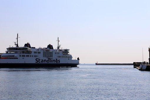 Helsingborg, Sound, Boat, Harbour Inlet, Water