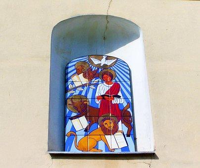 Tile Mosaic, Church Window Seat, Ikon