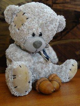 Plush Mascot, Cuddly, Teddy Bear, Fun