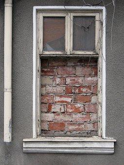 Window, Wall, Bricks, Prison, Bucharest, Romania