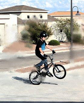 Bicycle, Bike, Wheelies, Trick, Stunt, Shadow