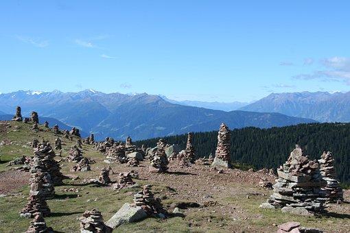 Stones, Steinere Manderln, Mountains, Cairn